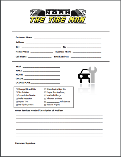 Car Drop-Off Form